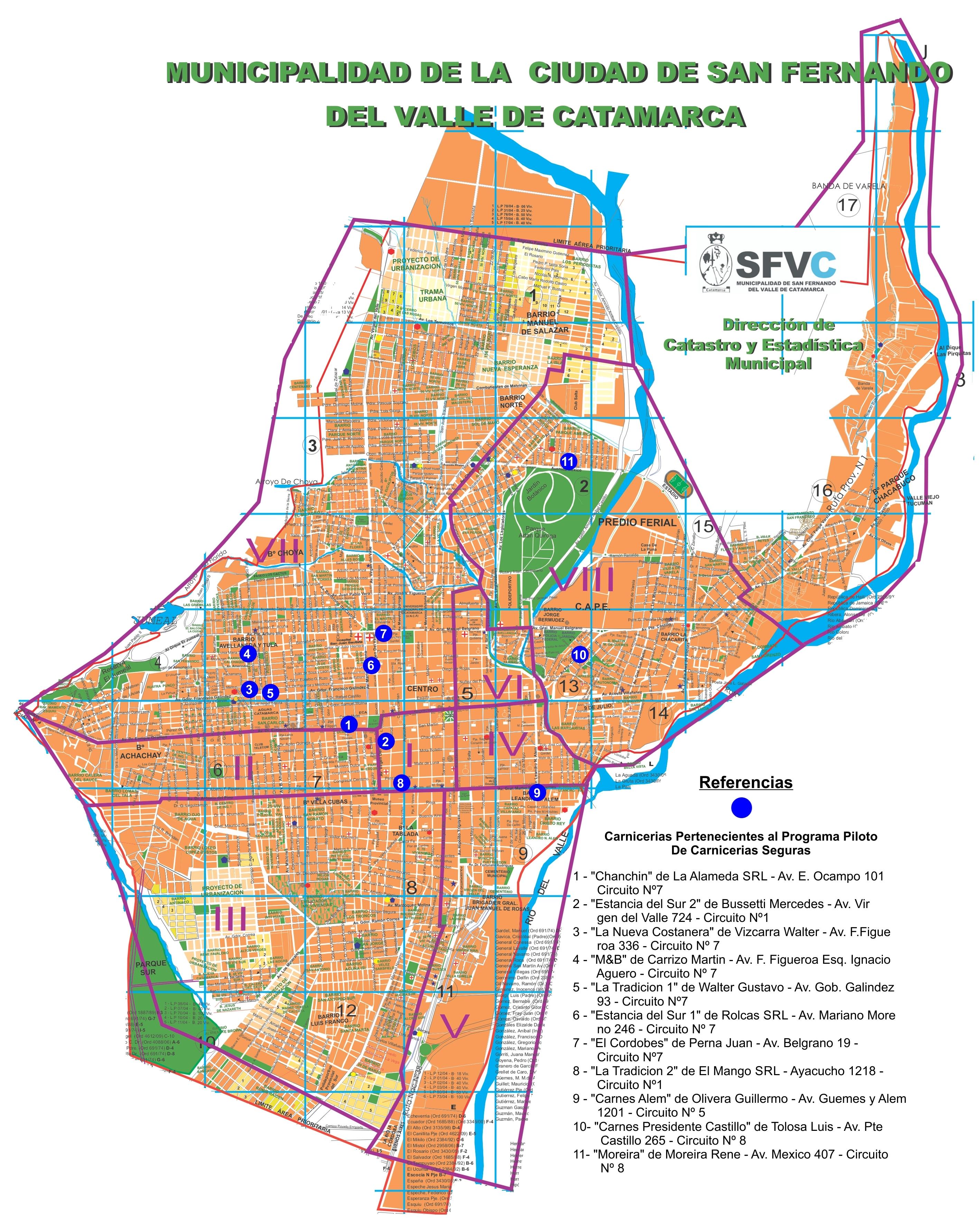 Circuito W Mapa : Mapa u2013 circuitos piloto sala de situación de salud local para la